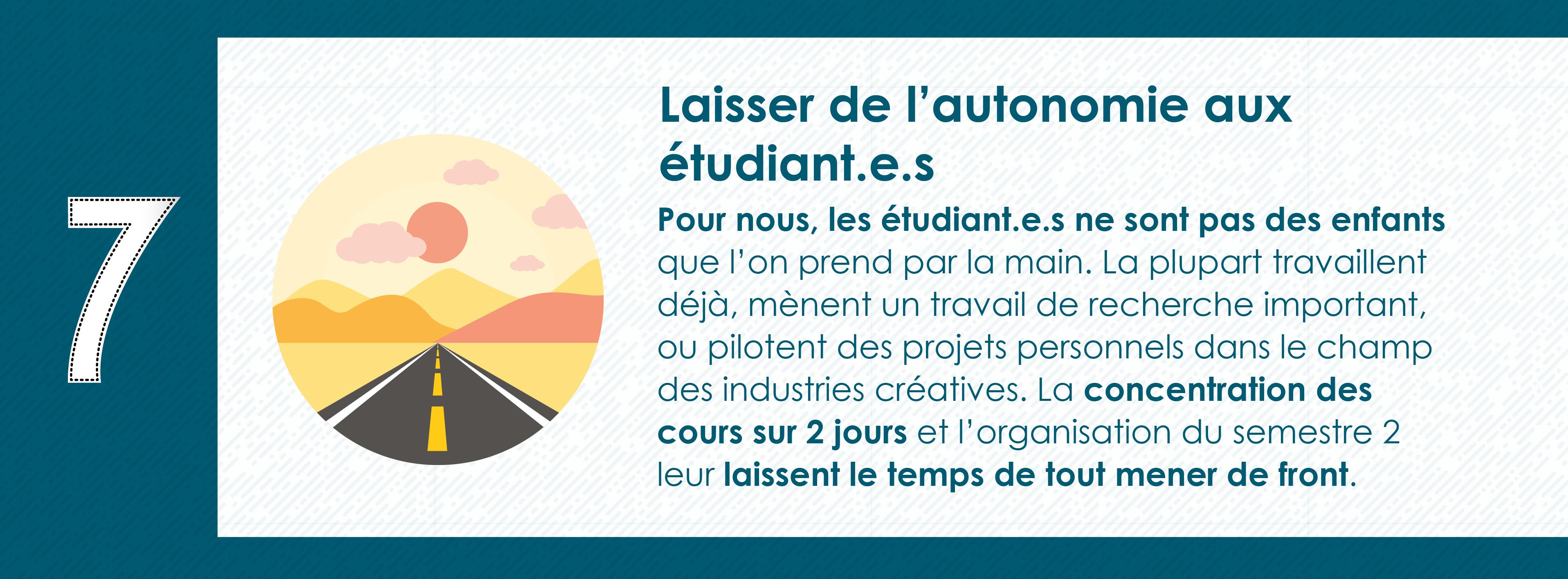 Pourquoi rejoindre le Master 2 Industrie Audiovisuelle de Paris 8 - Autonomie des étudiants