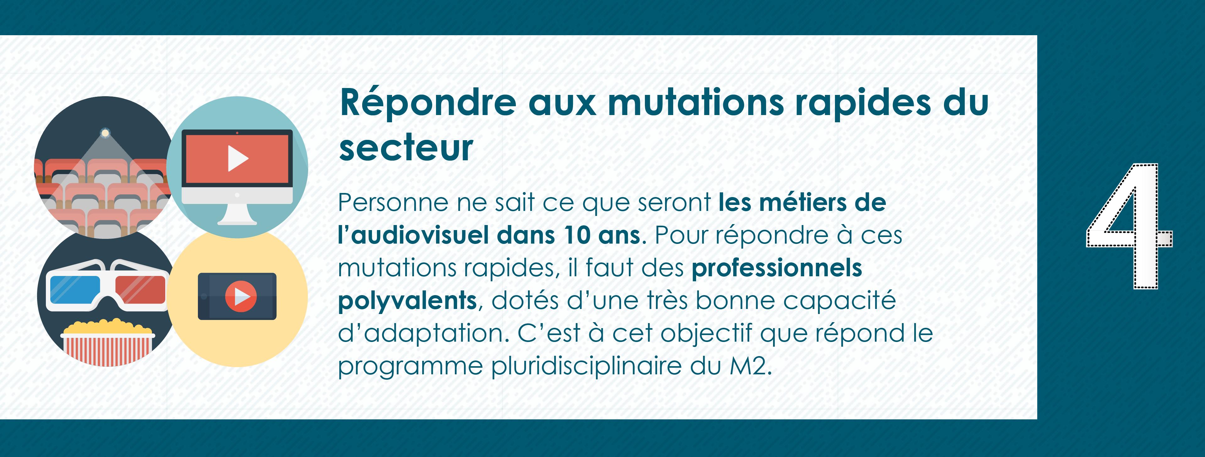 Pourquoi rejoindre le Master 2 Industrie Audiovisuelle de Paris 8 - Préparation aux mutations rapides du secteur