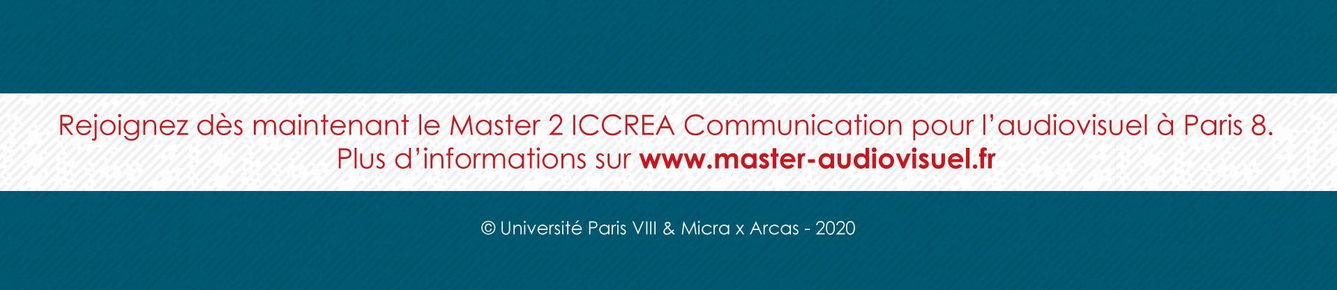 Pourquoi rejoindre le Master 2 Industrie Audiovisuelle de Paris 8 - Footer